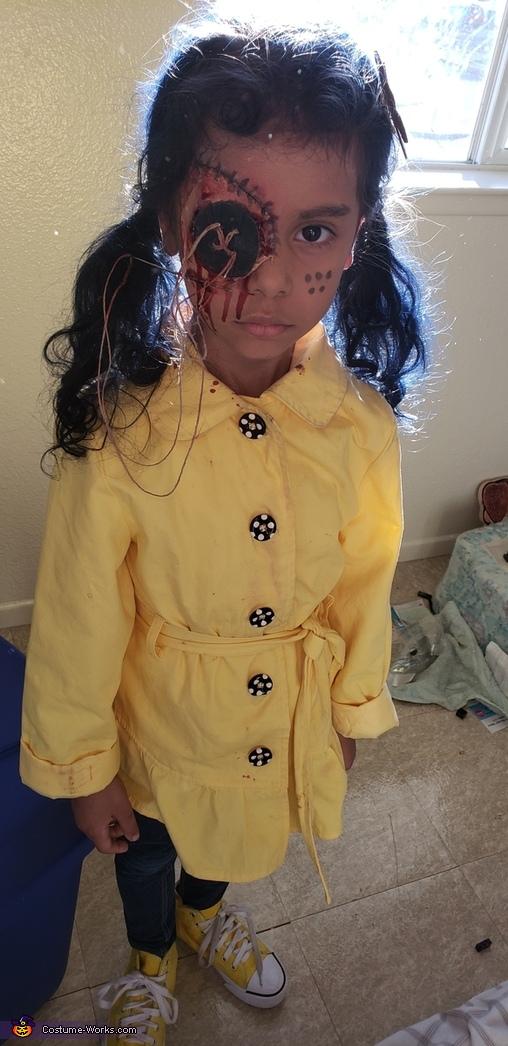 Stitch make up, Dark Coraline Costume