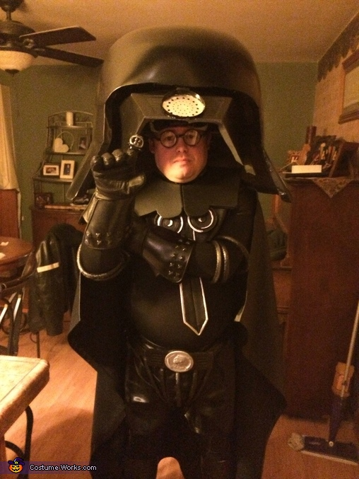 Finished, visor up, Spaceballs Dark Helmet Costume