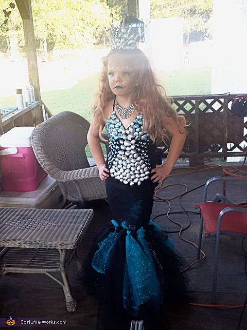 Dark Mermaid Homemade Costume