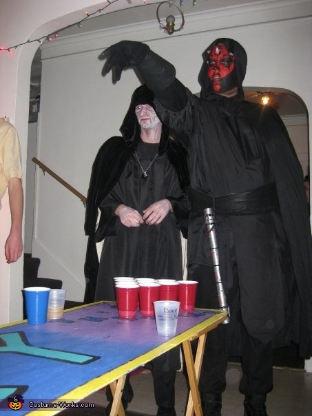 Using the dark side of the force to own at BP!, Darth Maul Costume