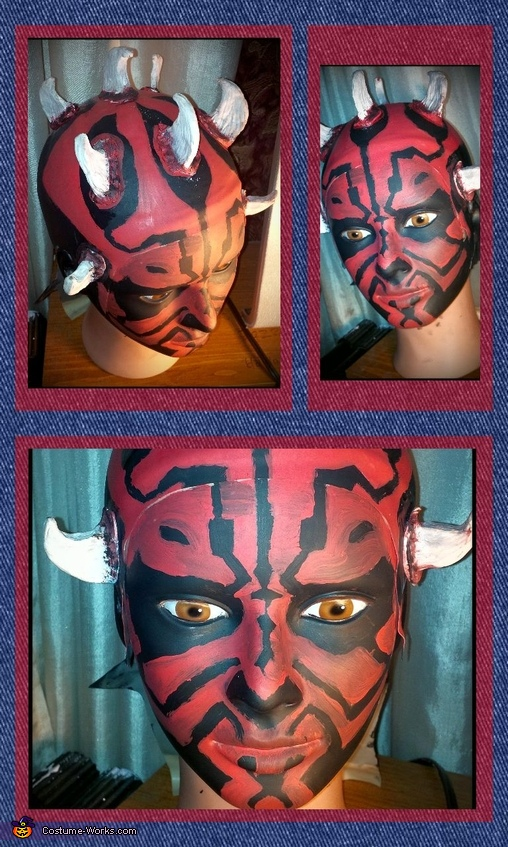 Bald cap on dummy, Darth Maul Costume