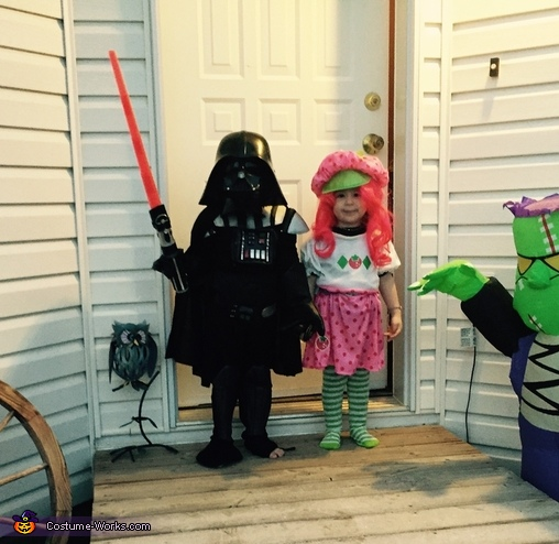 Darth Vader and Strawberry Shortcake Costume