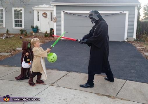 Darth Vader and Luke finally meet, Darth Vader Family Costume