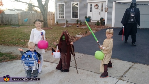 Darth Vader Family Homemade Costume
