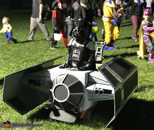 Darth Vader with his Tie Fighter Ship Costume