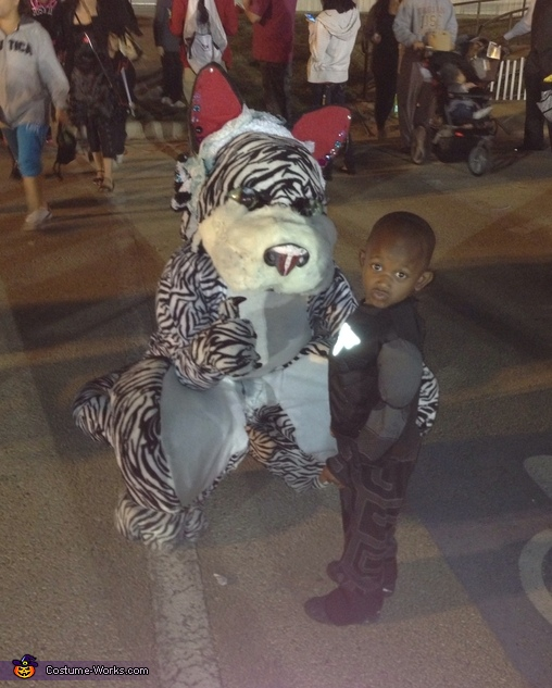 D'Asia and little batman, D'Asia the White Tiger Costume