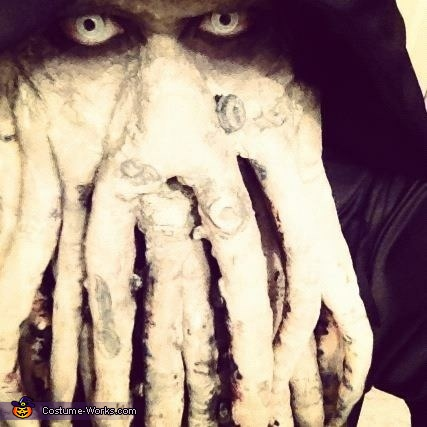 Close up, Davy Jones Costume