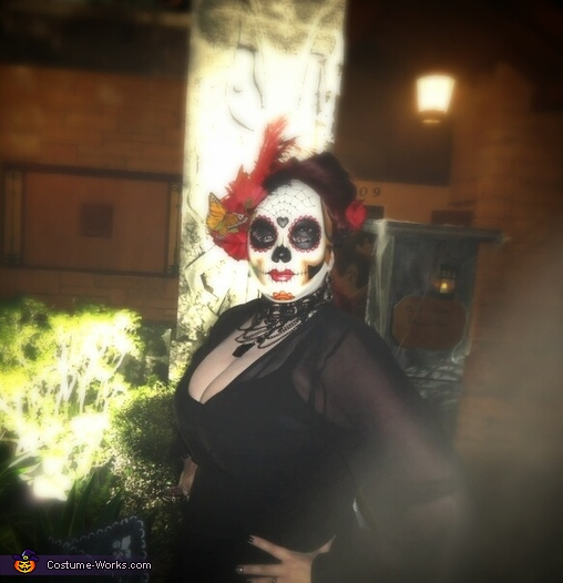 My wife, Day of the Dead Costume