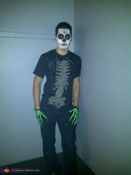 My boyfriend, Day of the Dead Costume