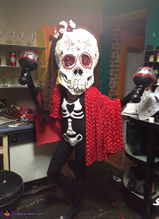 Day of the Dead Bobblehead Costume