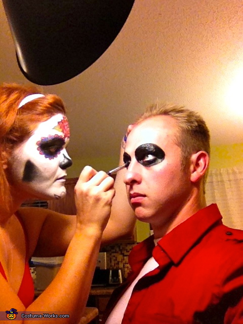 The makeup, Day of the Dead Costumes!