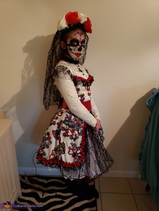 Day of the Dead Girl Homemade Costume