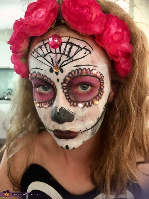 Me makeup, Day of the Dead Costume