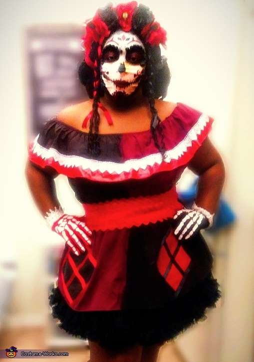 Day of the Dead Harley Quinn Costume