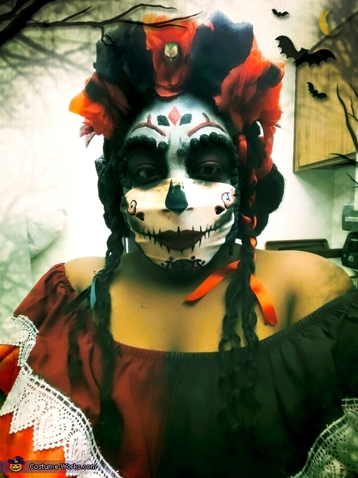 Day of the Dead Harley Quinn Homemade Costume