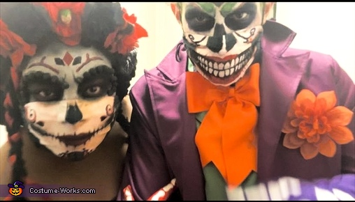 Day of the Dead Joker & Harley Quinn Homemade Costume