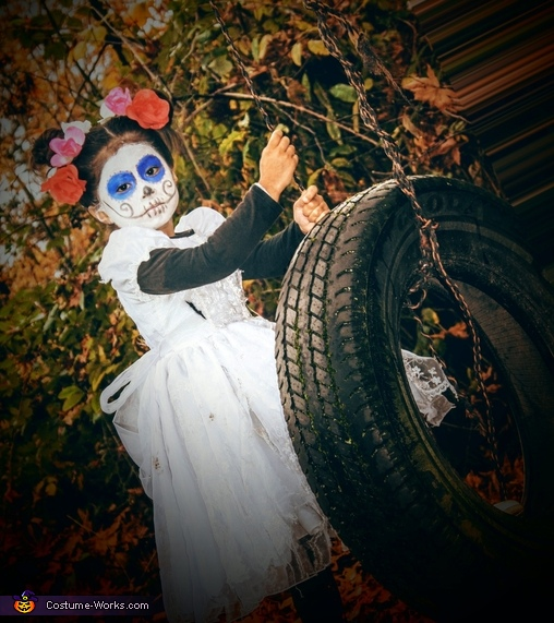 Day of the Dead Little Girl Homemade Costume