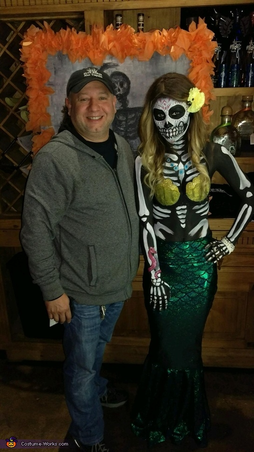 Day of the Dead Mermaid Homemade Costume