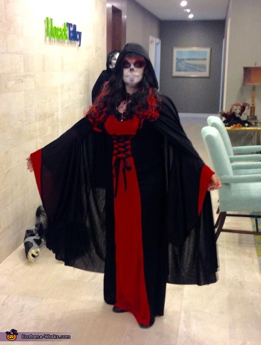 Day of the Dead Sugar Skull Sorceress Homemade Costume