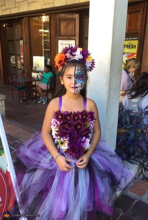 Day of the Dead Wedding Flower Girl Costume