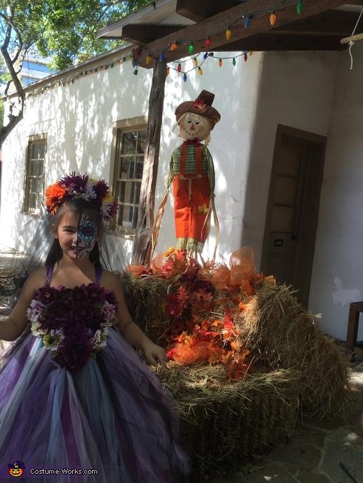Day of the Dead Wedding Flower Girl Homemade Costume