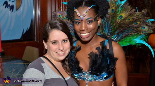 My bestie and I, Dazzling Pretty Peacock Costume