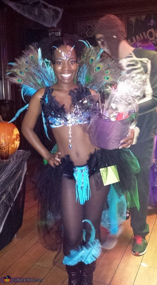 Second Place Winner, Dazzling Pretty Peacock Costume