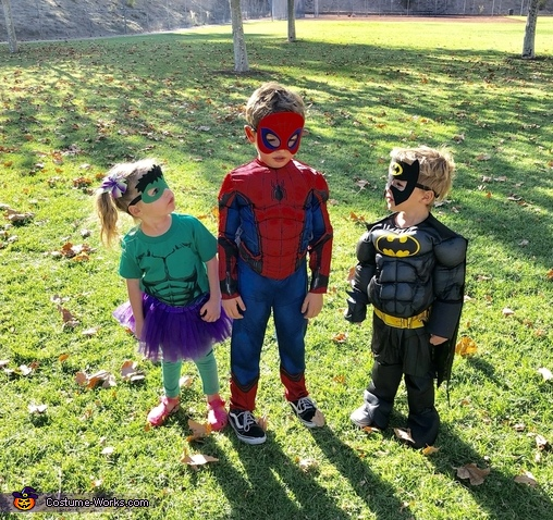 Superheroes unite, DC and Marvel Unite Costume