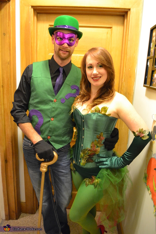 Riddler and poison ivy, DC Villains Group Costume