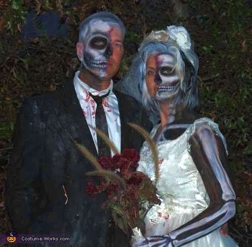 Dead Bride and Groom - Homemade costumes for couples