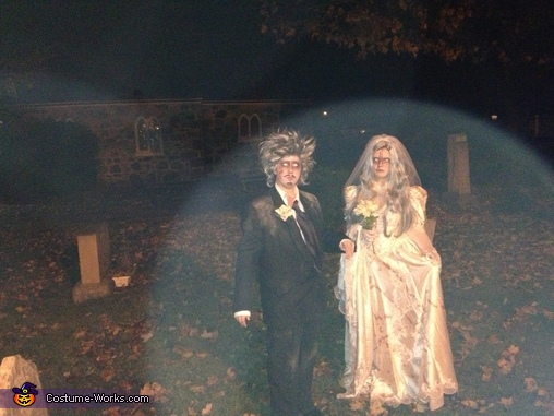 Spirits have come out to play in the graveyard!!, Dead Bride and Groom Couple Costume