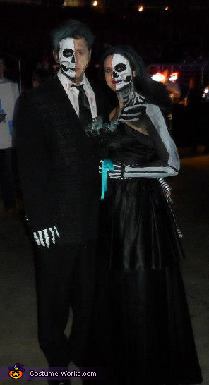 Full Length, Dead Bride and Groom Costumes