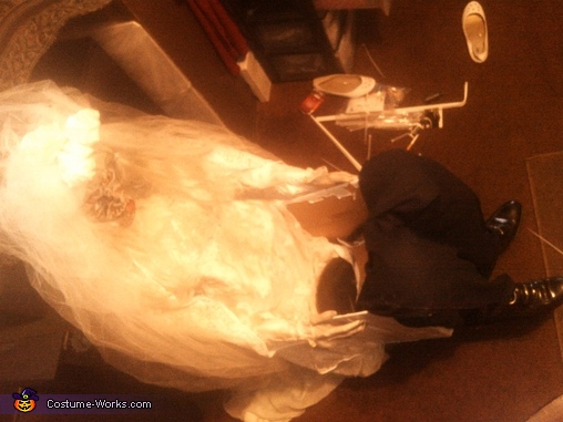Dead Bride Carrying Dead Groom Illusion Costume