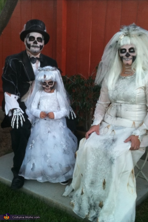 Dead Bride, Groom and Flower Girl Costumes