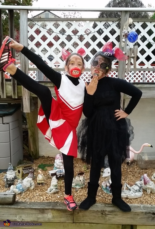 Dead Cheerleader and Dead Widow Costumes