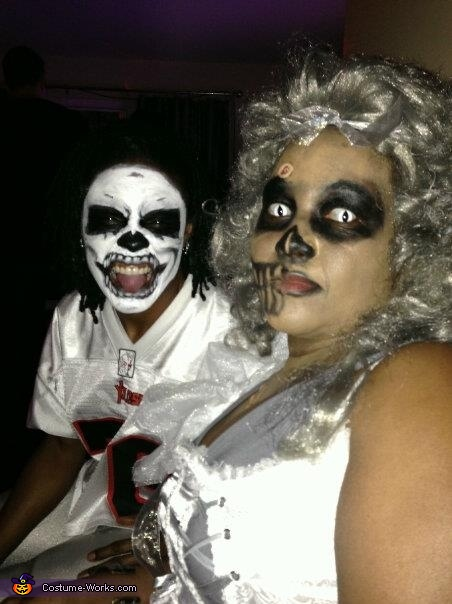 "Scary face, ""Dead End"" Costume"