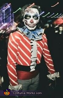 Dead Killer Clown Homemade Costume
