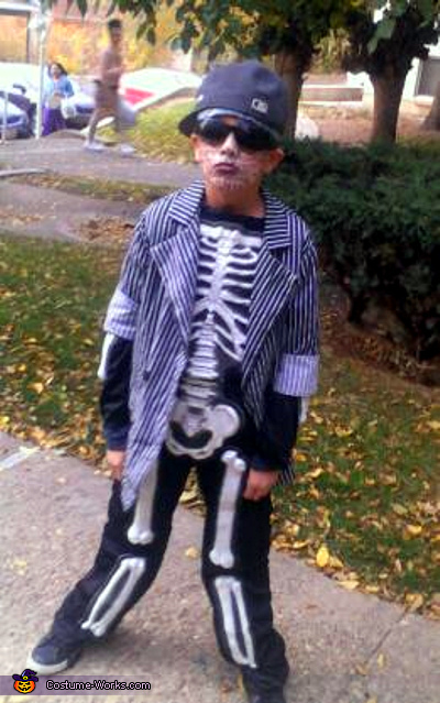 Dead Skeleton Gangster Costume