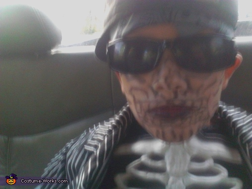 Dead Skeleton Gangster Homemade Costume