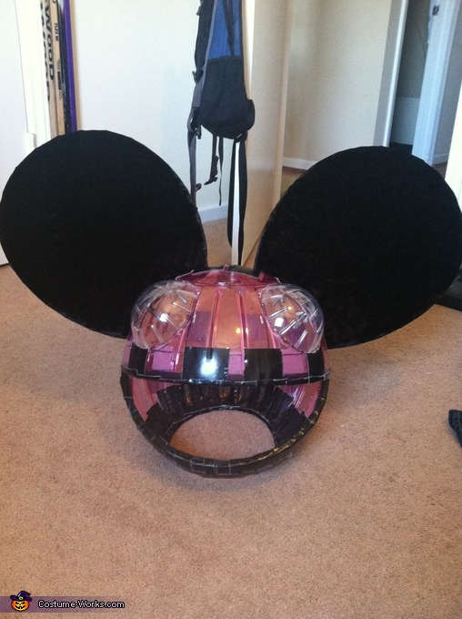The head ready for some fabric!, Deadmau5 Costume