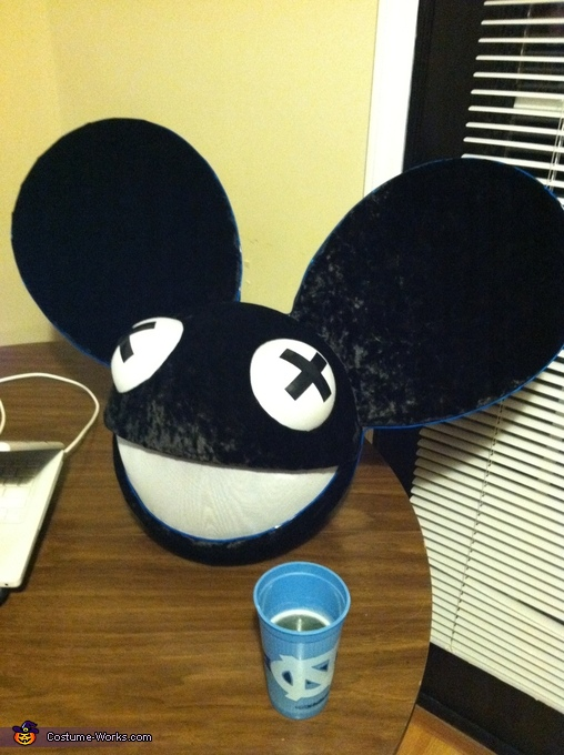 All together and ready to program the lights! , Deadmau5 Costume