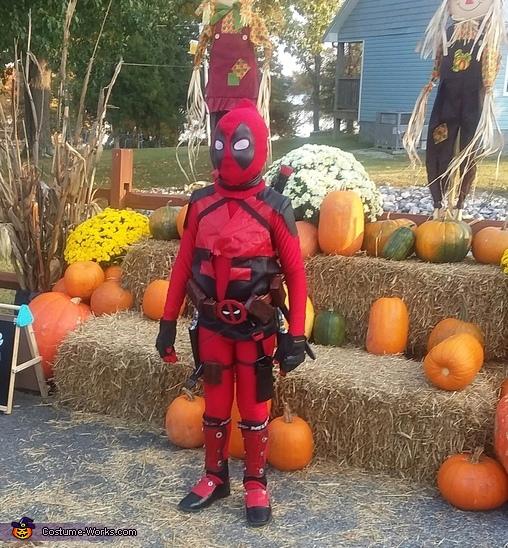 Deadpool Child Costume No Sew Diy Costumes Photo 3 3