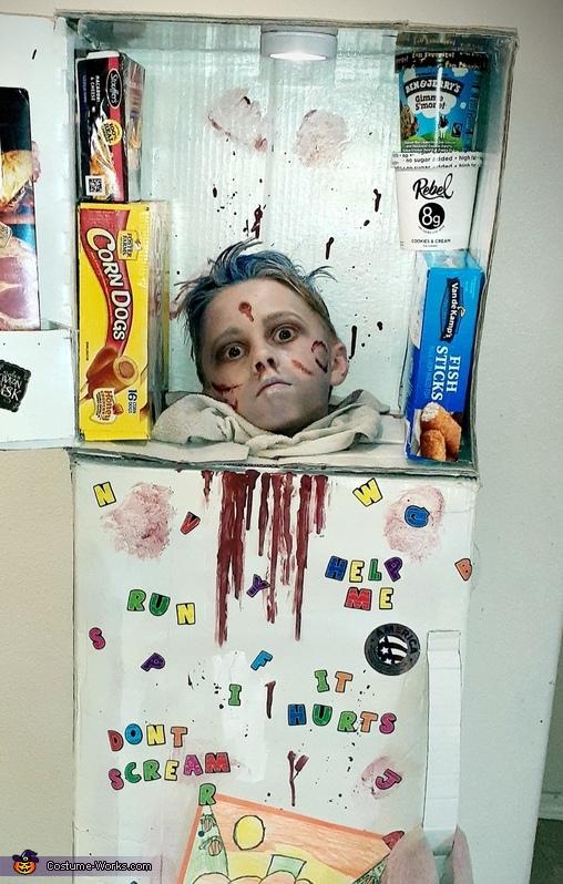 Decapitated Head in Freezer Costume