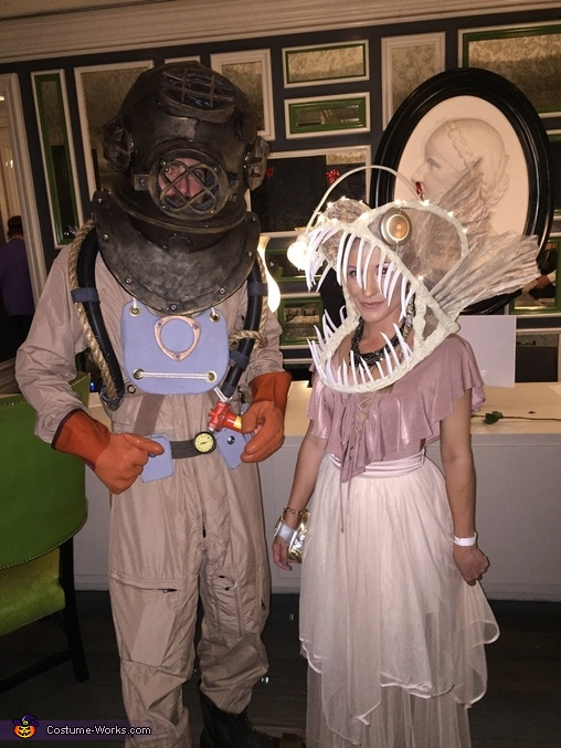 Deep Sea Diver and Angler Fish Costume