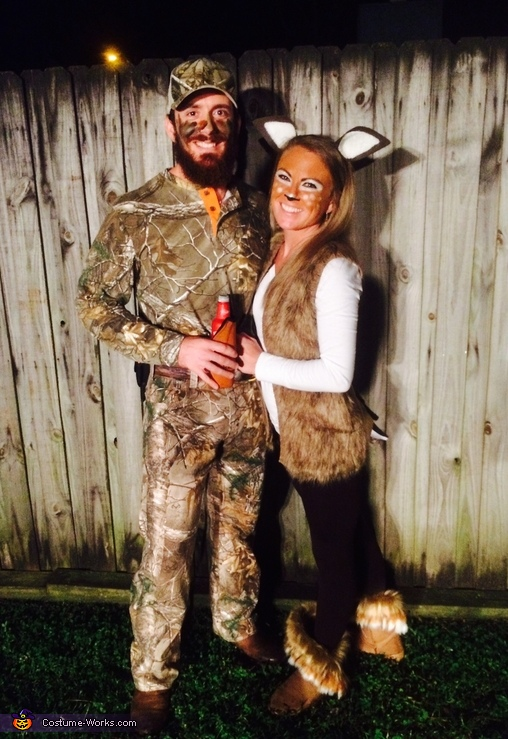 Deer and Hunter Couples Costume