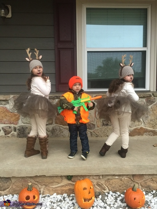 Deer and Hunter Homemade Costume