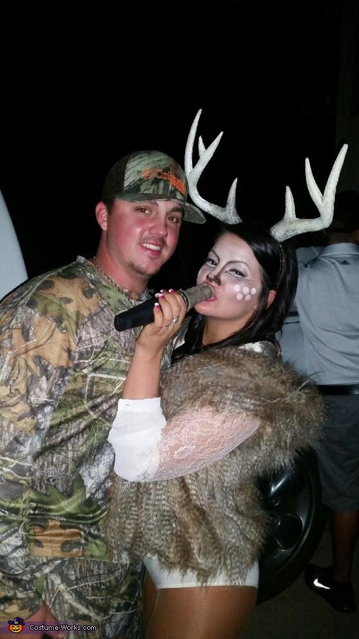 deer and hunter couple homemade costume