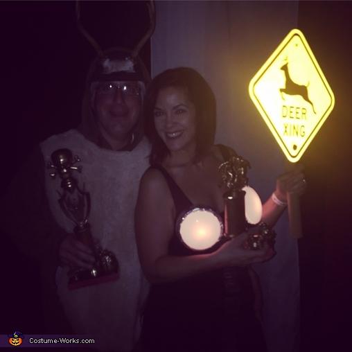 Best Duo/Couple & Best Overall winners, Deer in Headlights Couple Costume