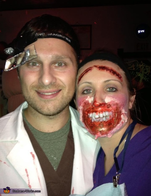 Demented Dentist and his First Patient Couple's Costume