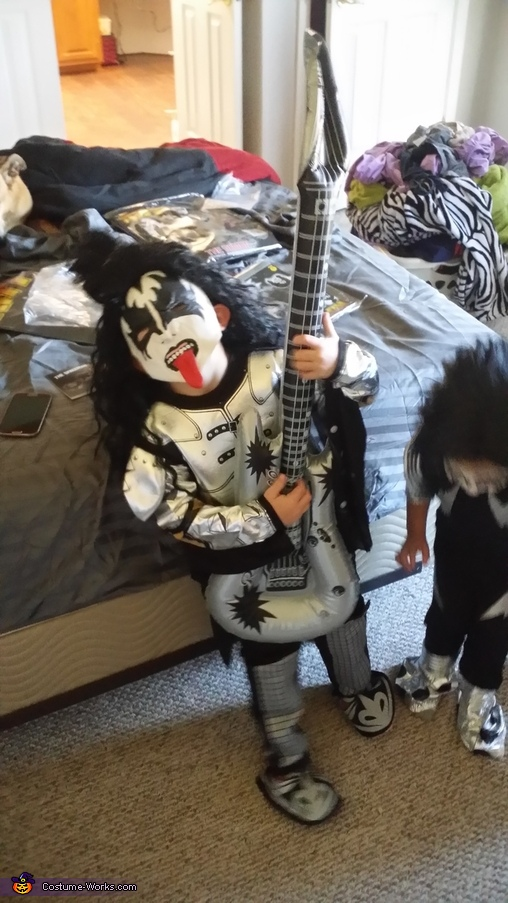 Rocking out!, Demon and Spaceman from KISS Costume